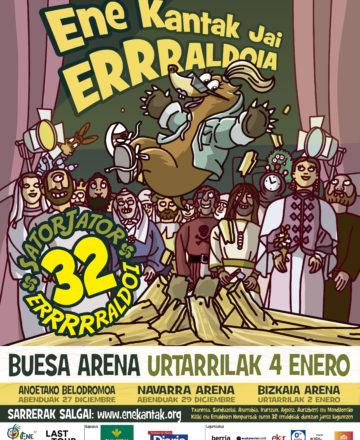 Ene Kantak Jai Erraldoia llega el próximo mes de enero al Buesa Arena